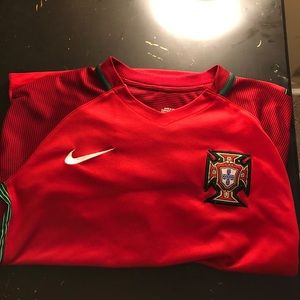 Red Portugal soccer jersey